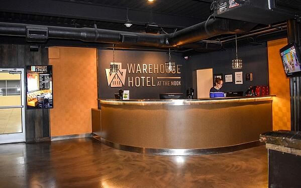 Warehouse Hotel in Spooky Nook Sports Complex