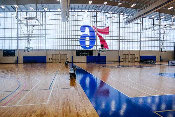 Basketball Court at 76ers Fieldhouse