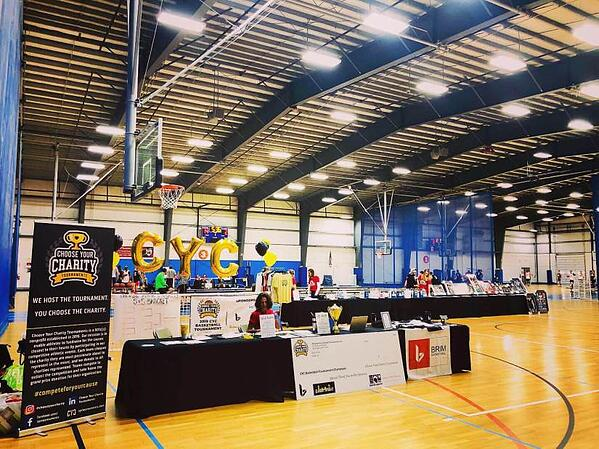 Charity basketball event at Starland Sportsplex