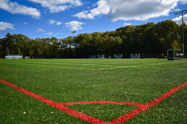 Turf field in Massachusetts