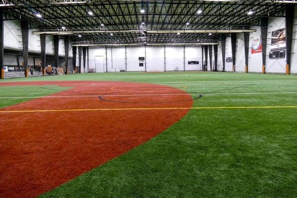 Indoor Turf Field inside Sports Complex