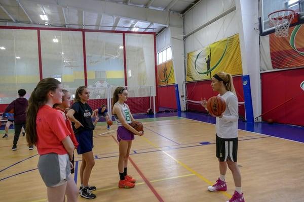 Girls Basketball Practice at Forekicks