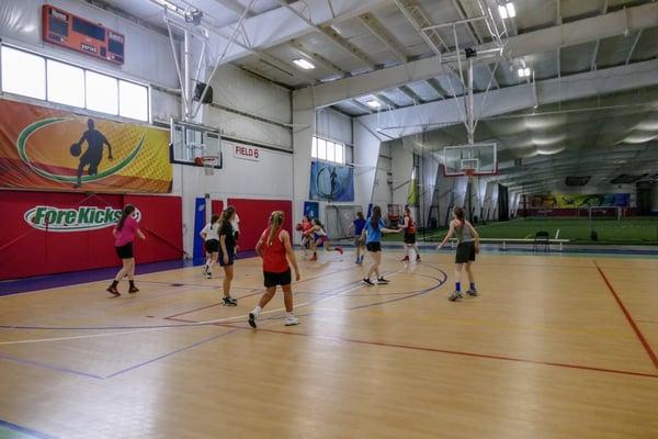 Girls Basketball Game in Boston